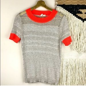 Anthropologie Moth | Short Sleeve Sweater Knit Top